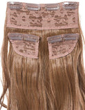 Half Head Curly Heat Resistant Synthetic Hair Extensions In Ash Blonde #18/22