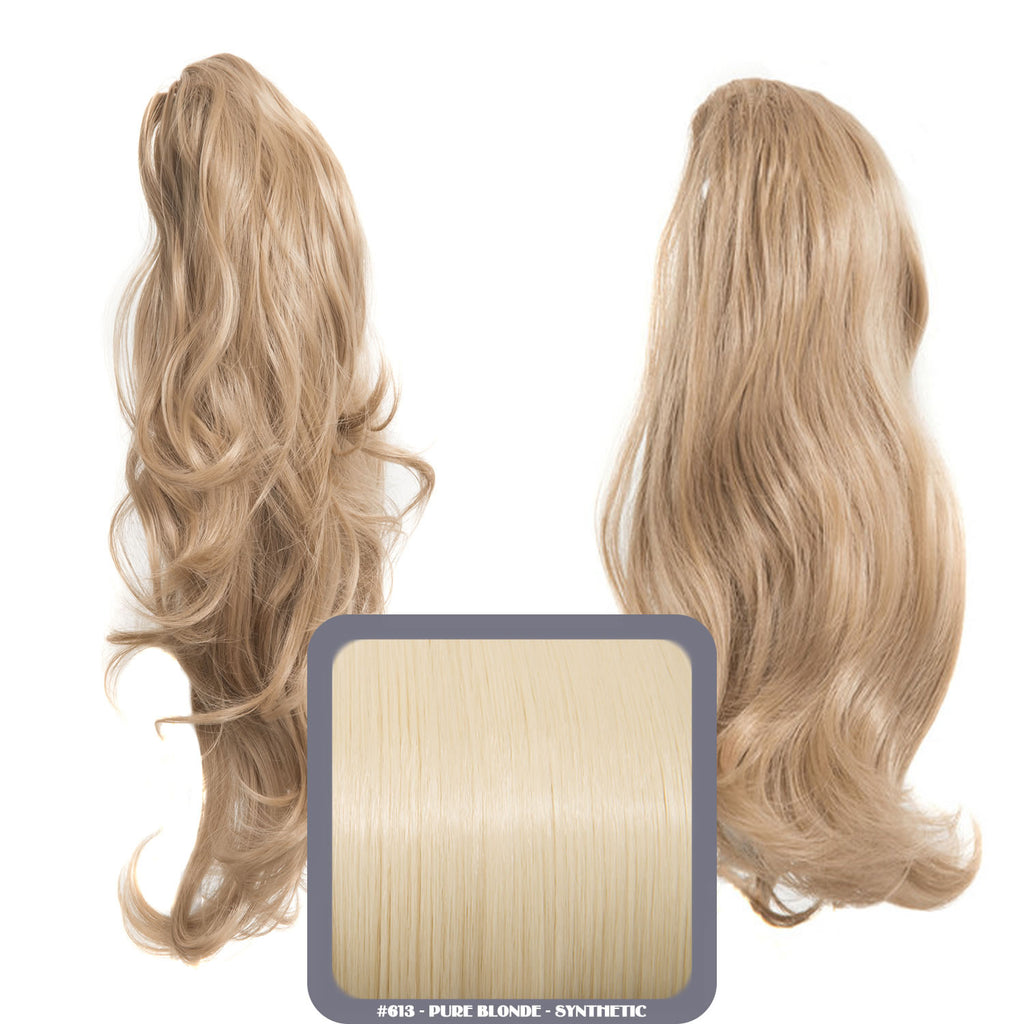 Laurel Long 2-Way Reversible Drawstring Ponytail in #613 Pure Blonde