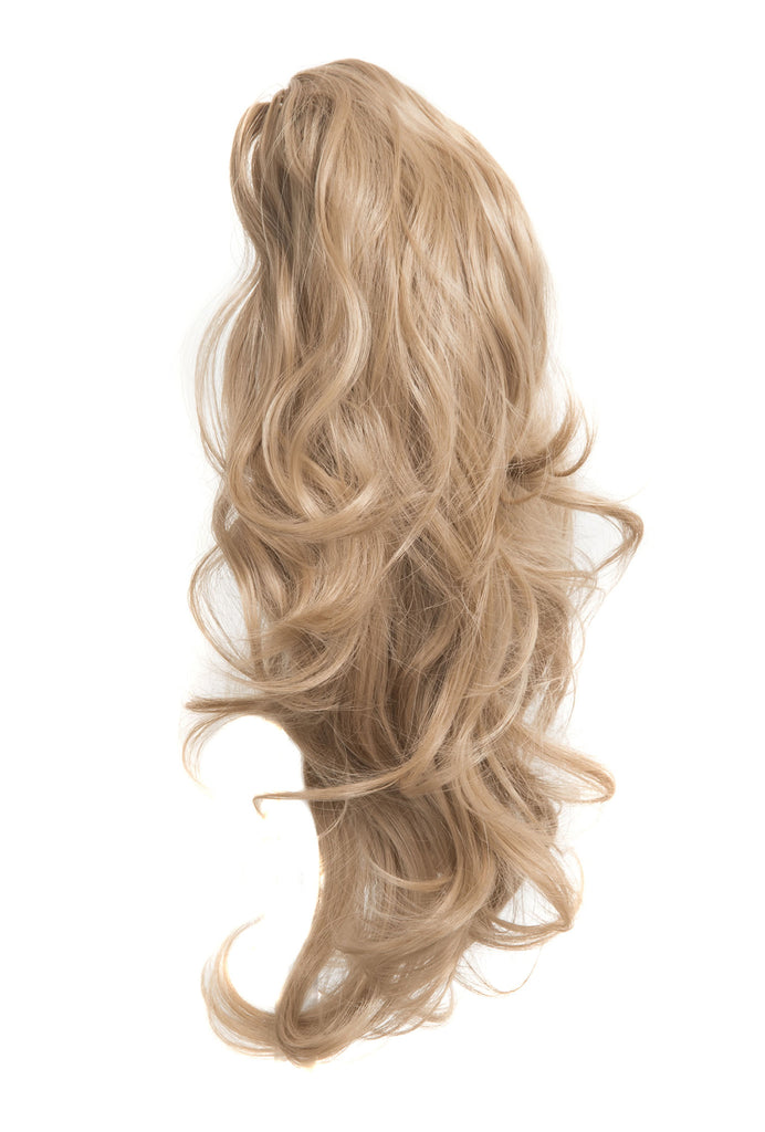 Laurel Long 2-Way Reversible Drawstring Ponytail in #60 Bleach Blonde