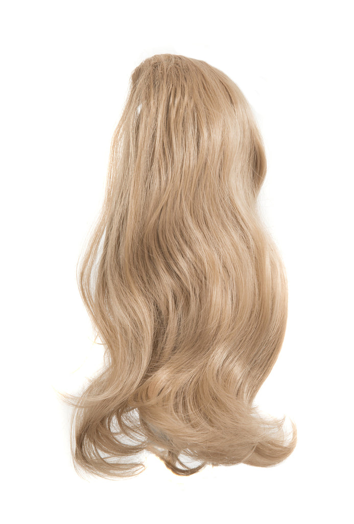 Laurel Long 2-Way Reversible Drawstring Ponytail in #18/22 Ash Blonde