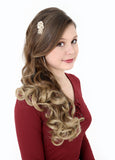 Dip Dye Curly Ponytail in Light Golden Brown / Pale Blonde (#10TT24) - Dolled Up Hair Extensions - 3