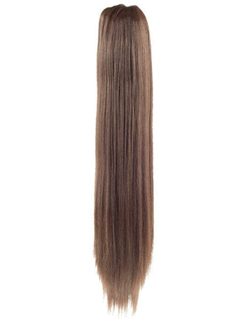 "20"" Long Straight Ends Synthetic Ponytail in #8 - Chestnut Brown"