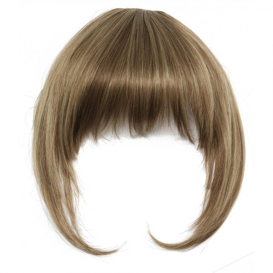 Clip-In Full Fringe With Bangs In Honey Brown #12/8/13
