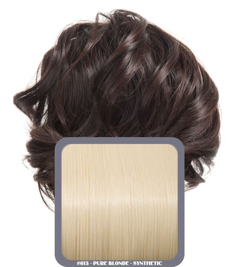 Short Drawstring Synthetic Ponytail in #613 Pure Blonde
