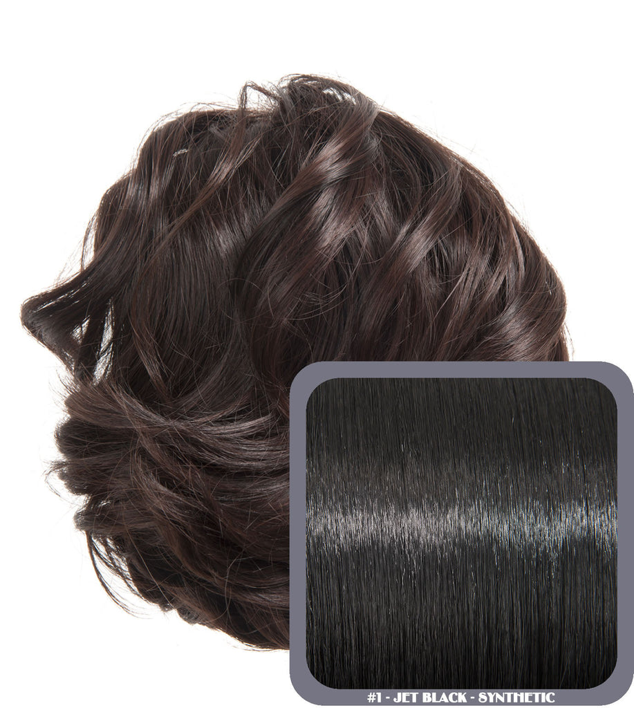 Short Drawstring Synthetic Ponytail in #1 Jet Black