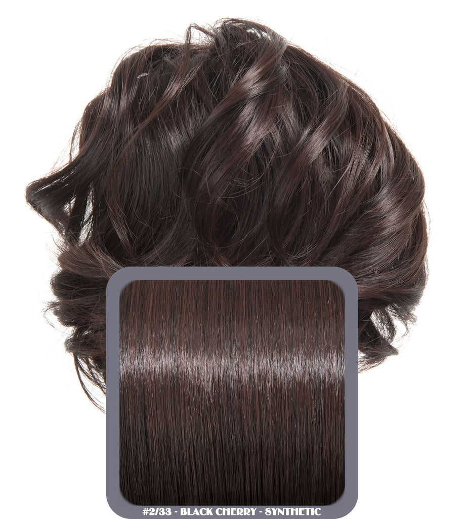 Short Drawstring Synthetic Ponytail in #2/33 Black Cherry