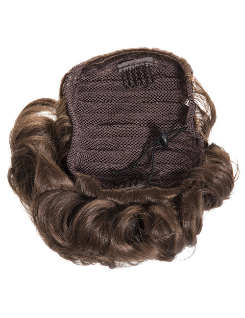 Short Drawstring Synthetic Ponytail in #99J Plum