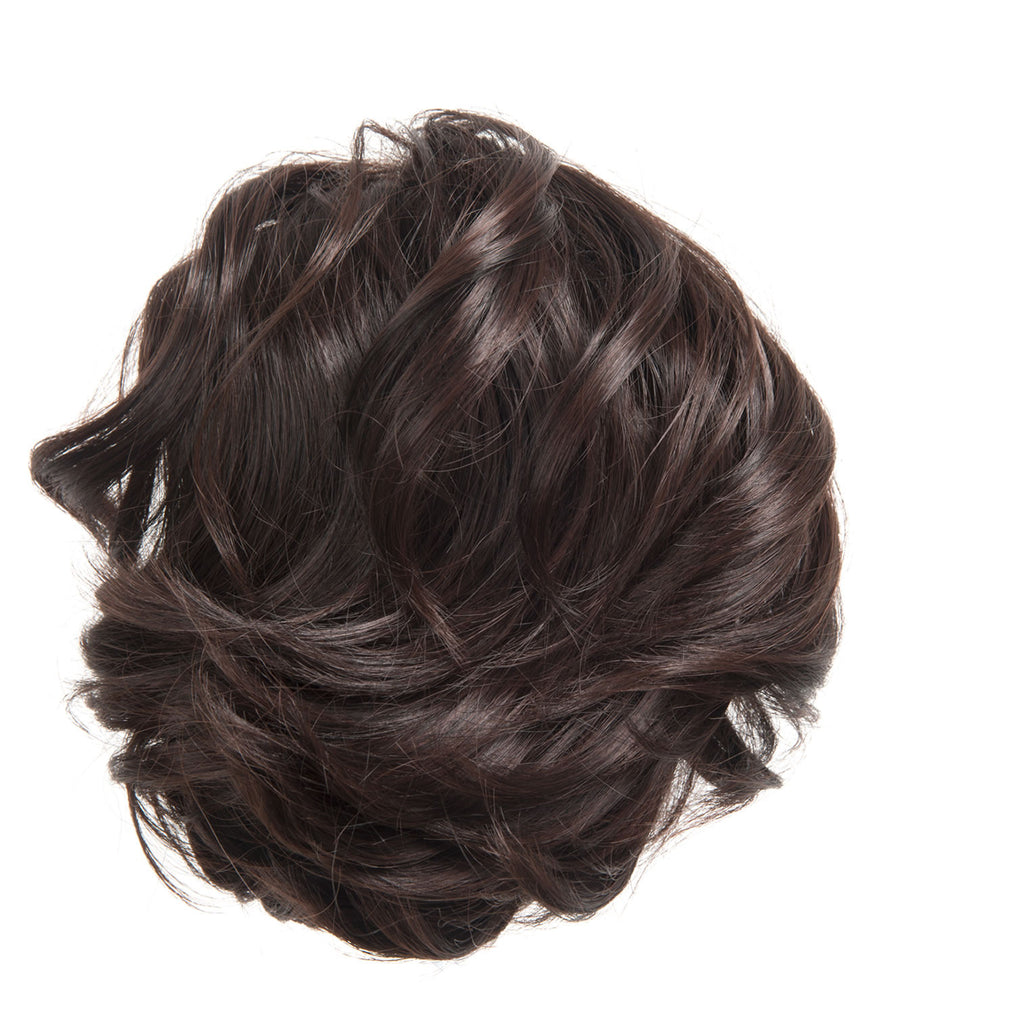 Short Drawstring Synthetic Ponytail in #12 Golden Brown