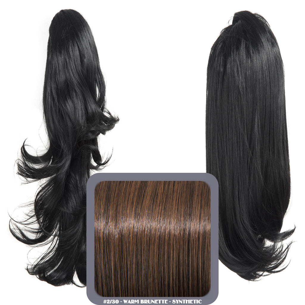 Reversible Wavy Synthetic Ponytail in #2/30 Warm Brunette