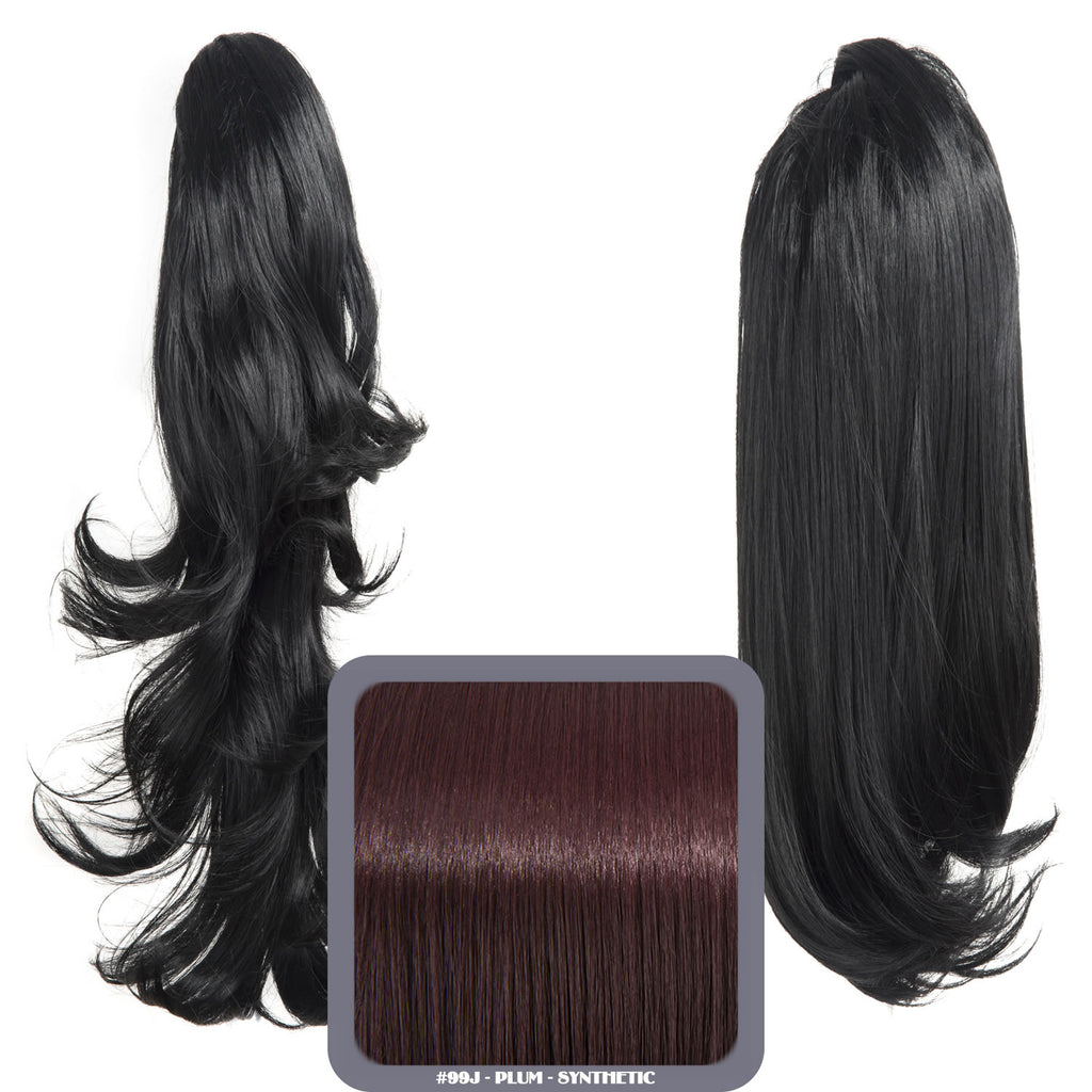 Reversible Wavy Synthetic Ponytail in #99J Plum