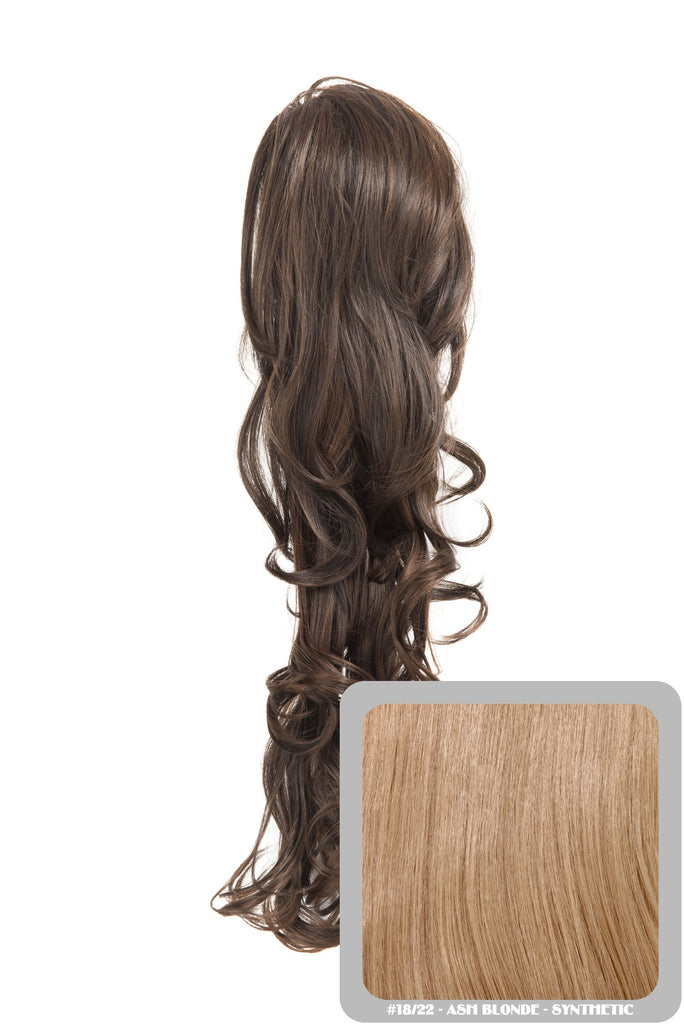 "22"" Volume Boost Clip-in Synthetic Ponytail in Ash Blonde #18/22"