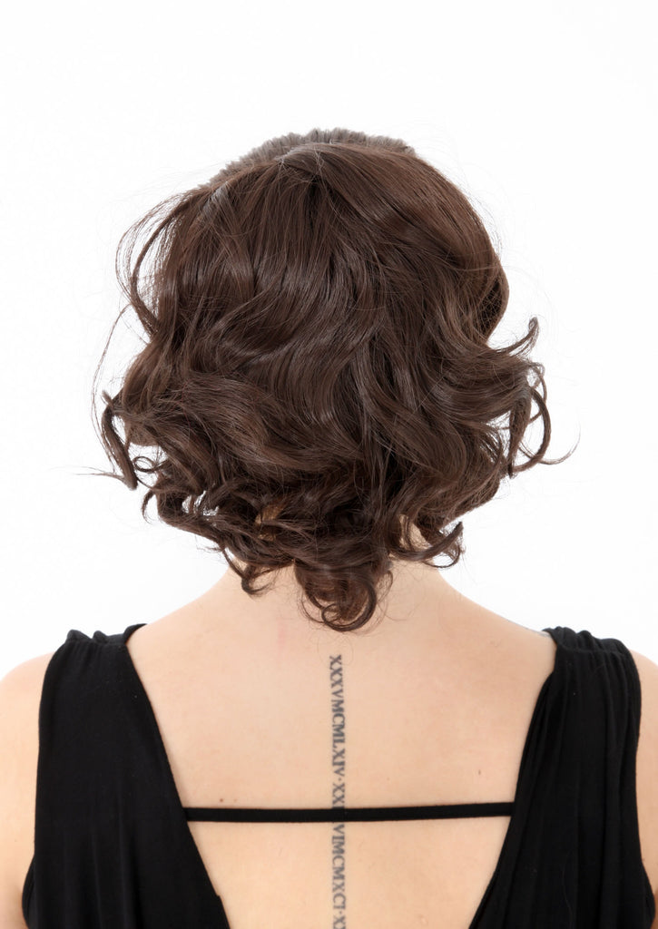 "Charm 10"" Short Curly Synthetic Ponytail in #1B Natural Black"