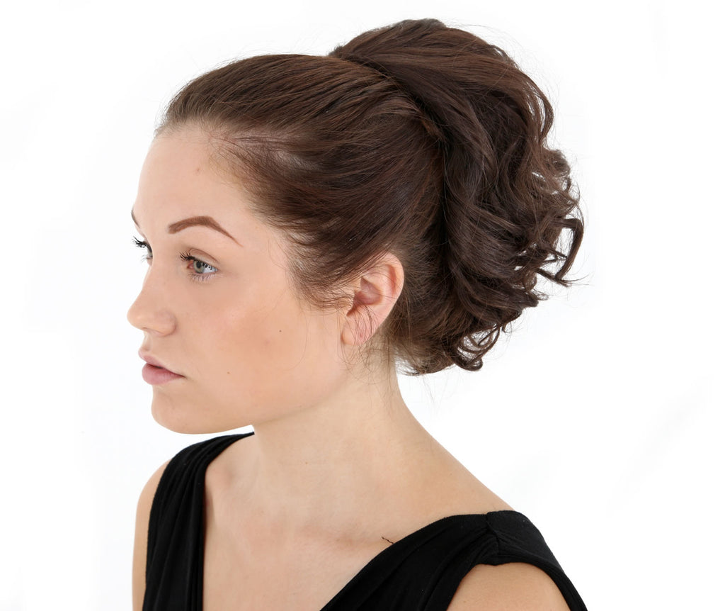 "Charm 10"" Short Curly Synthetic Ponytail in #8 Chestnut"