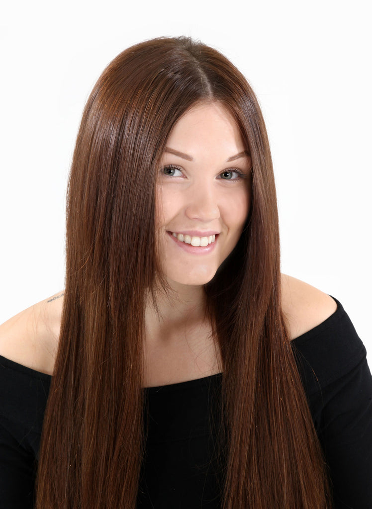 "14"" Full Head Remy Human Hair Clip In Extensions 160g In Natural Black (#1B)"