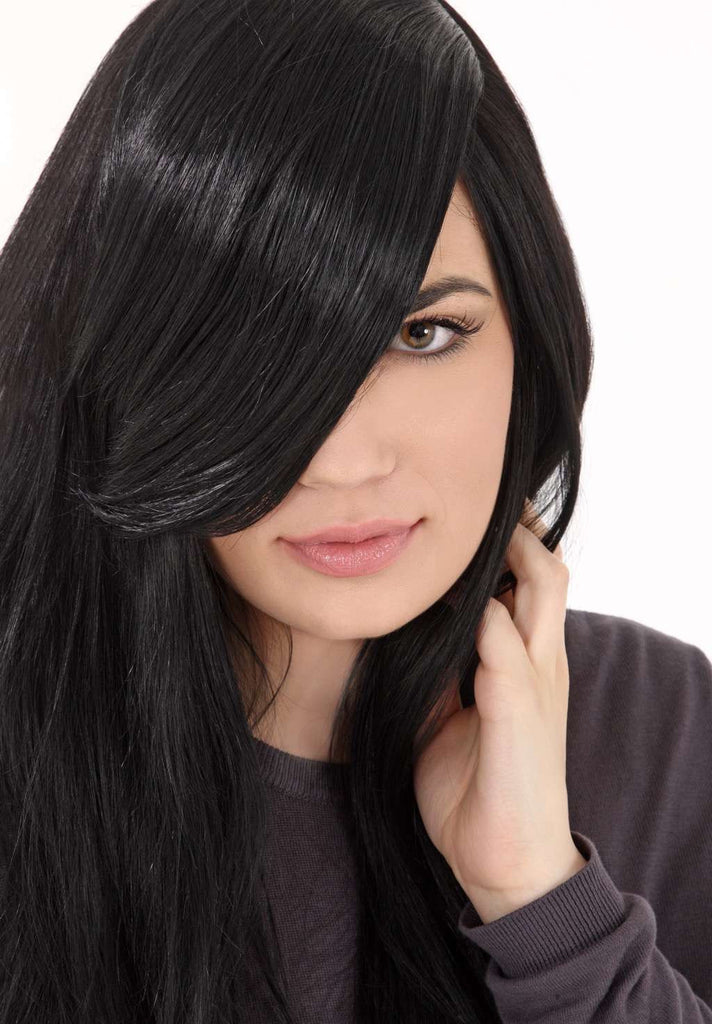 Clip-In Side Fringe In Jet Black #1