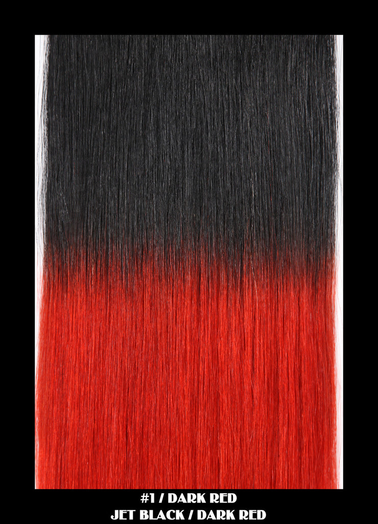 18 Remy Weave Hair Extensions Jet Blackdark Red