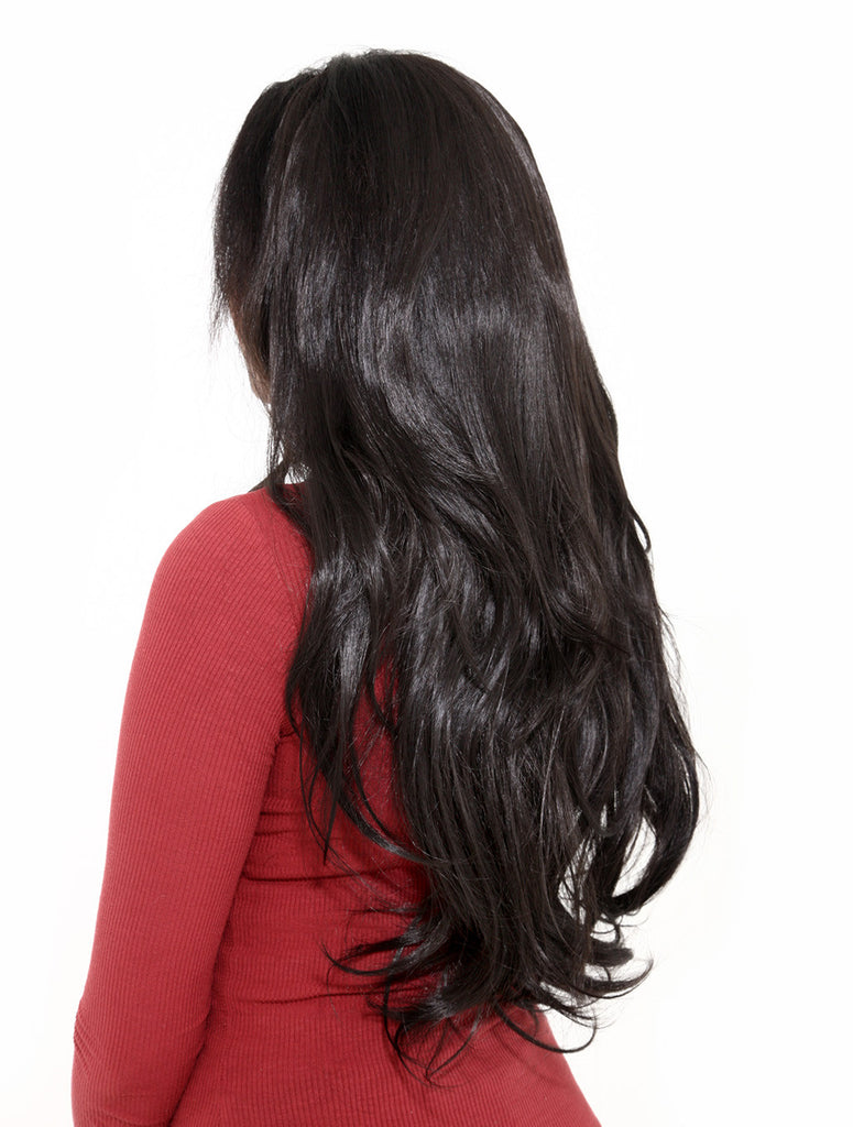 Emma Long Wavy Half Head Wig In Black Cherry (#2/33)