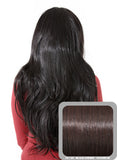 Emma Long Wavy Half Head Wig In Black Cherry (#2/33) - Dolled Up Hair Extensions - 1