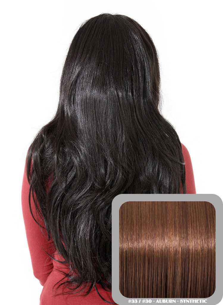 Emma Long Wavy Half Head Wig In Auburn (#33/30)