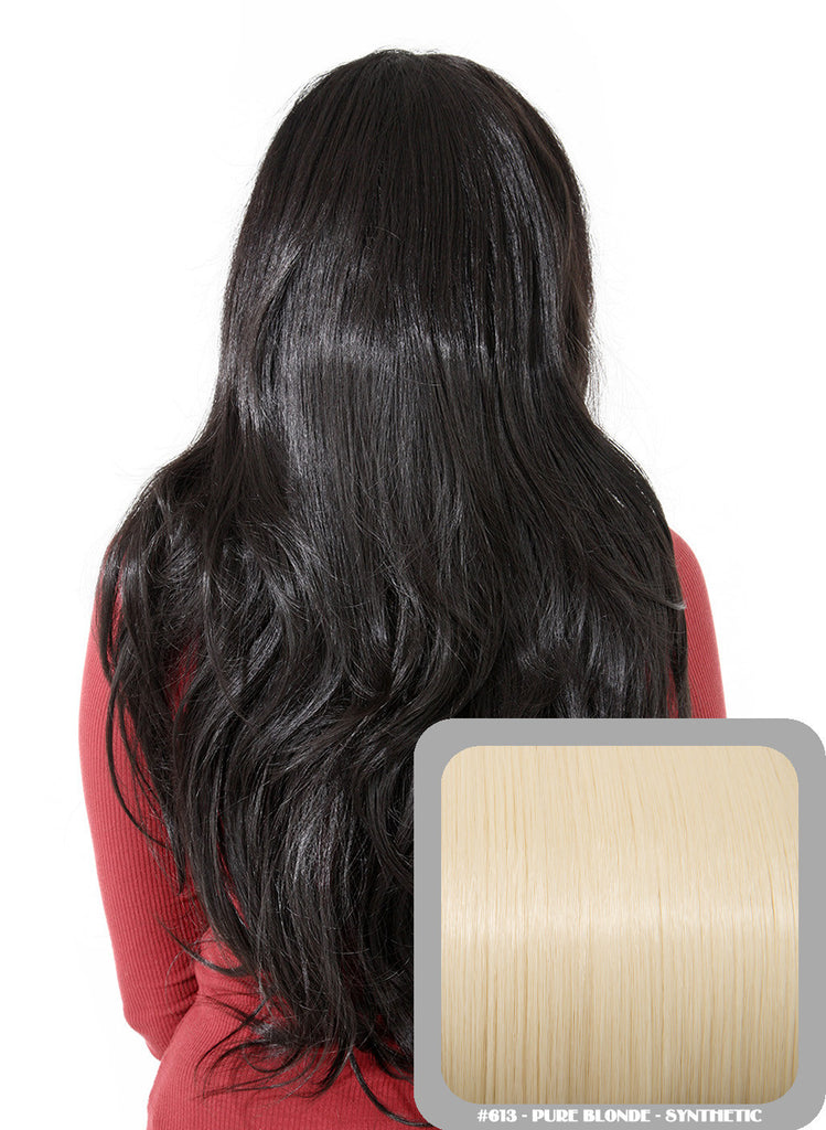 Emma Long Wavy Half Head Wig In Pure Blonde (#613)