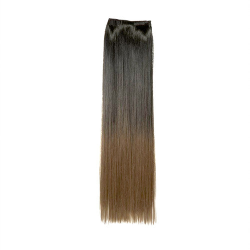 Dip Dye Straight Ponytail in Natural Black / Light Golden Brown (#1BTT10)