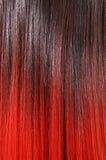 Curly Dip Dye One Piece Synthetic Clip In Hair Extension Natural Black/Red