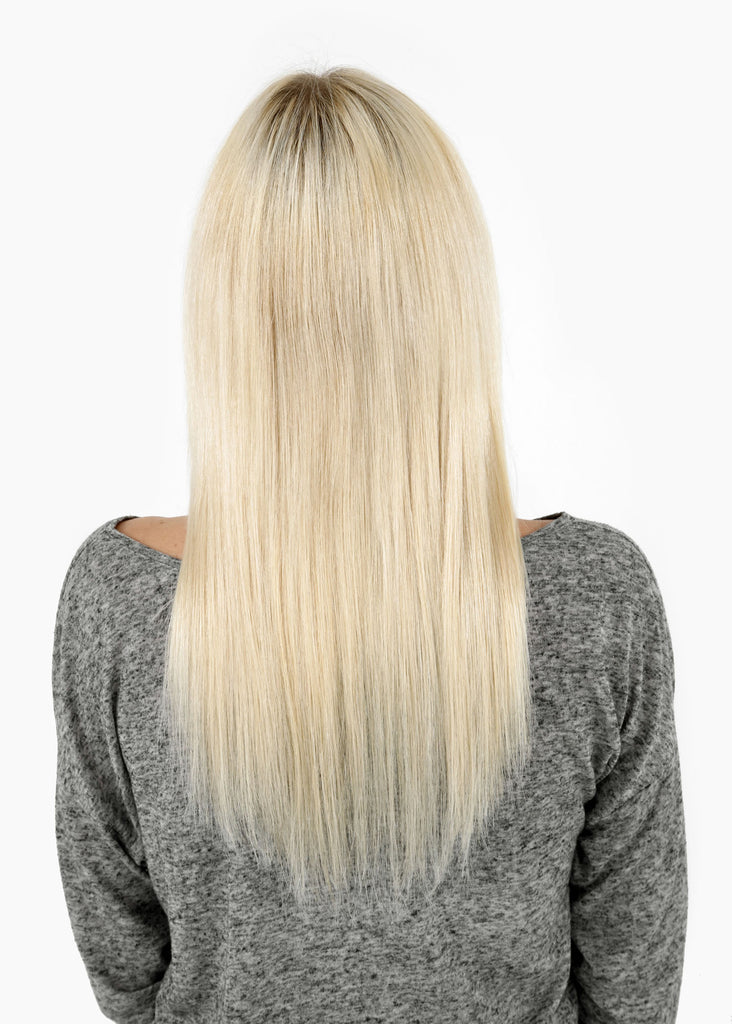 "20"" Remy Human Hair Invisible Tape Extensions 75g in Pale Blonde (#24)"