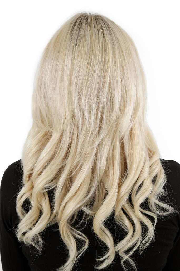 "18"" Remy Human Hair Invisible Tape Extensions 75g in Pure Blonde (#613)"