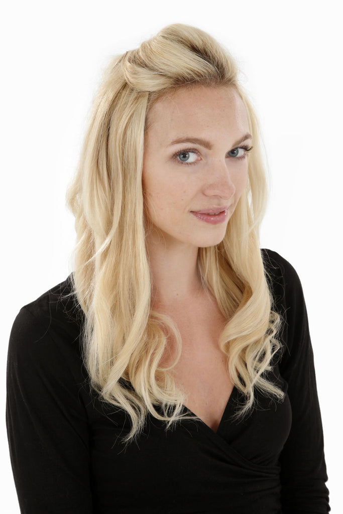 "20"" Remy Human Hair Invisible Tape Extensions 75g in Jet Black (#1)"