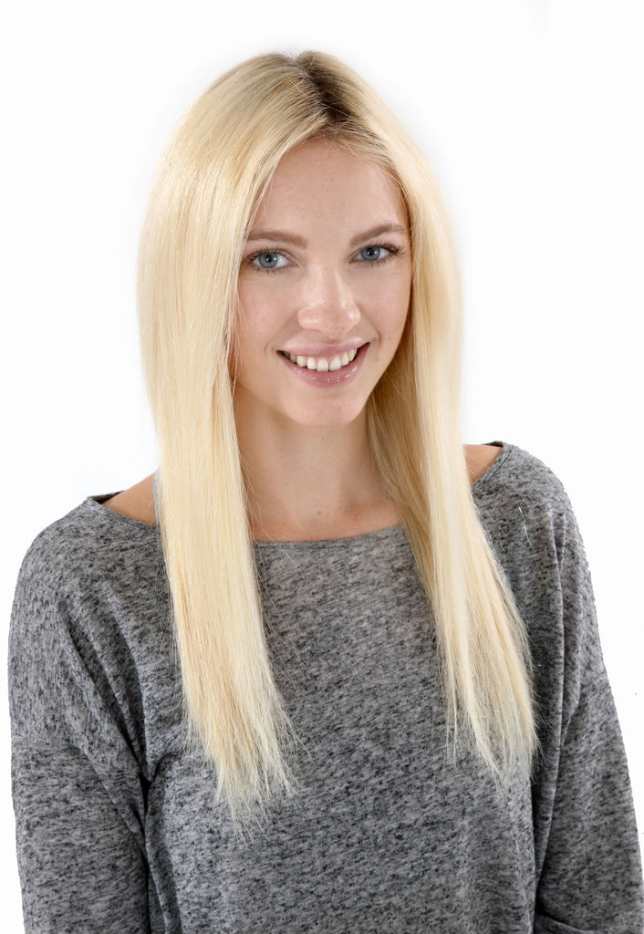 "16"" Remy Human Hair Invisible Tape Extensions 75g in Dark Ash Blonde (#18)"