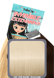 "18"" Remy Human Hair Invisible Tape Extensions 75g in Pure Blonde (#613) - Dolled Up Hair Extensions - 1"