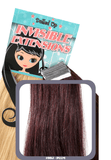 "18"" Remy Human Hair Invisible Tape Extensions 75g in Royal Plum (#99J) - Dolled Up Hair Extensions - 1"