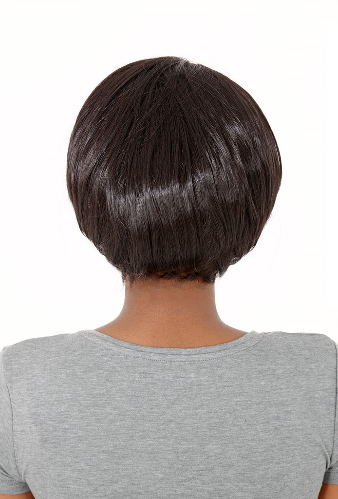 Posh Short Volume Booster Half Head Wig in Dark Brown #4
