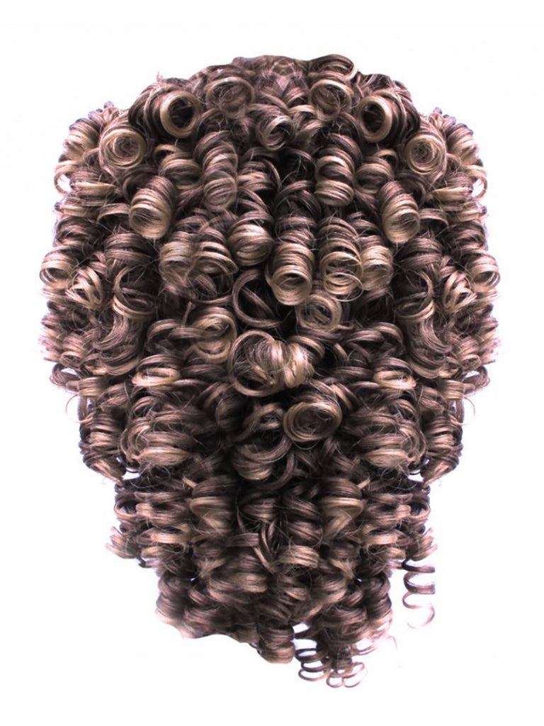 Tight Curls Irish Dancing Half Wig in Light Blonde #614H21