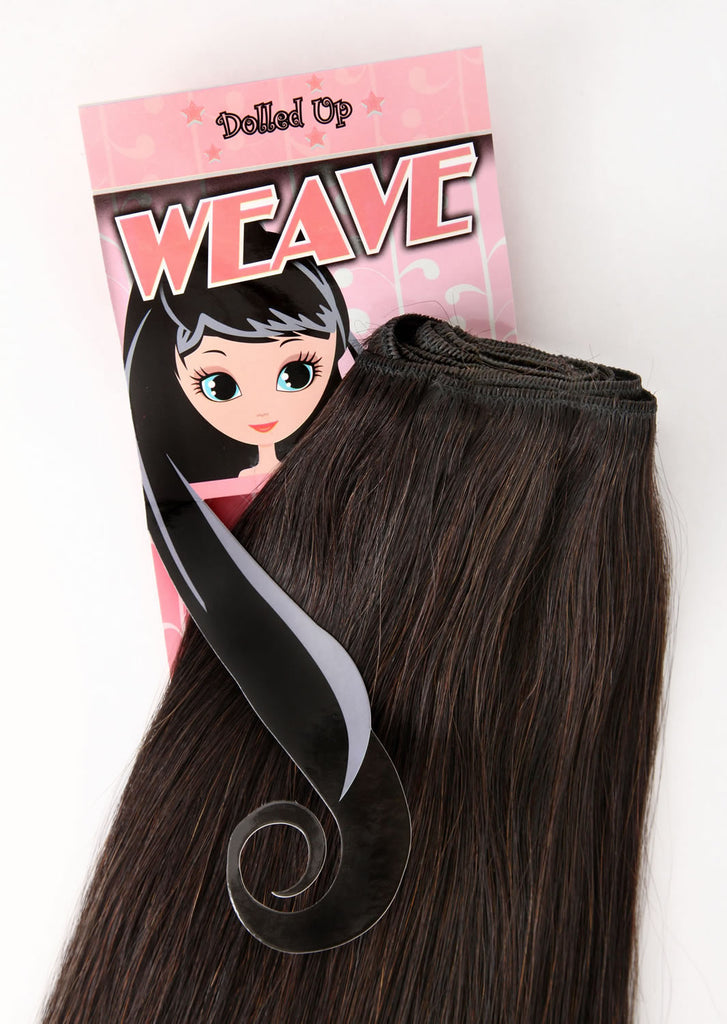 "20"" Deluxe Remi Weave Hair Extensions 140g in #8 - Chestnut Brown"