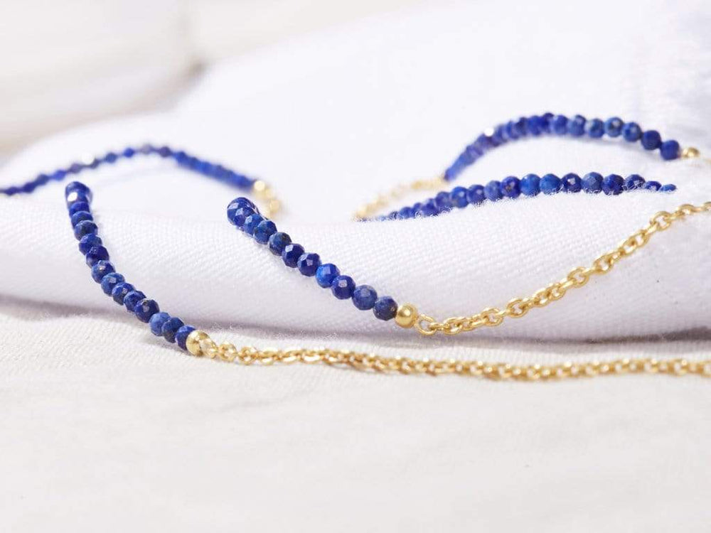 Lapis Lazuli - Gold Sunglasses Chains - 24k gold plated - Stones of Wisdom - Sunny Cords Sunglass Chain, Sunny Cords - Sunglass strap