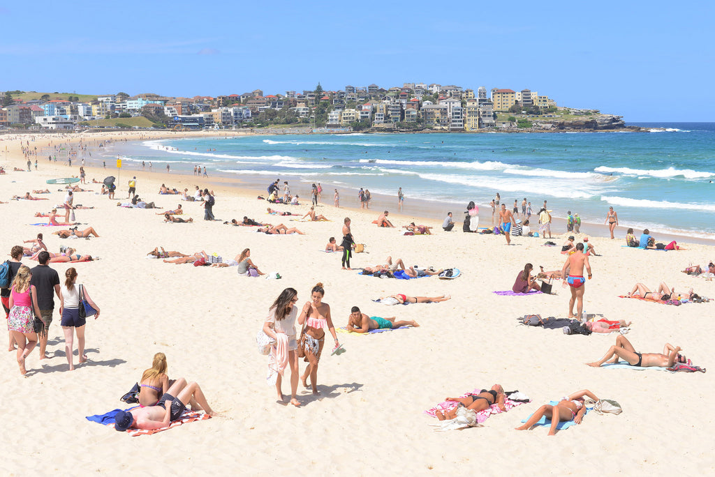 Sorbet beach towel at Bondi beach
