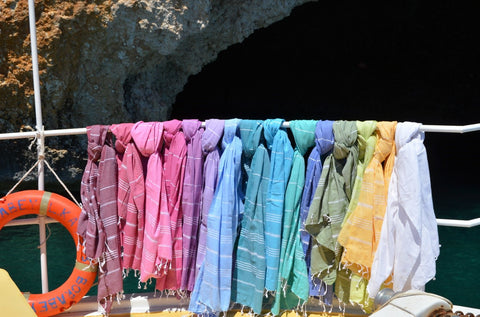 Colourful Sorbet holiday hammam towels