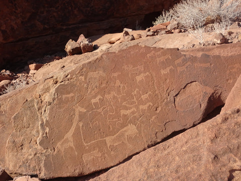Ancient rock carvings at Twyfelfontein