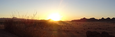 Beautiful Namibian sunset