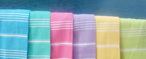Mouth-watering Sorbet hammam towel colours