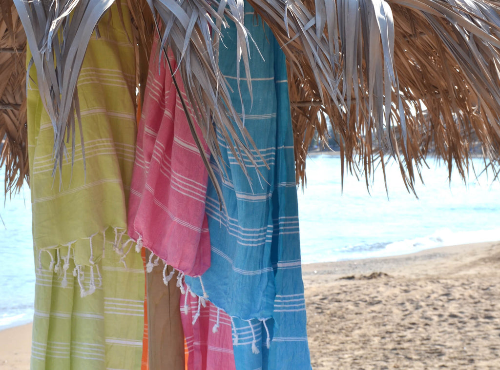 why hammam towels make the perfect beach towel