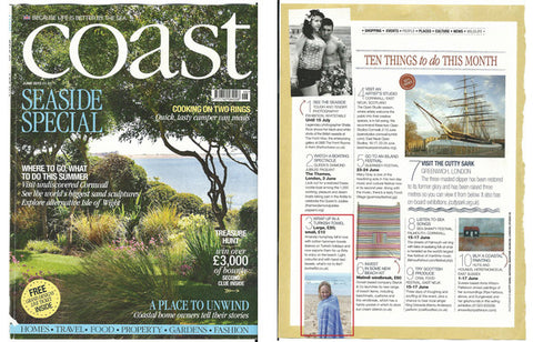 sorbet hammam towels as featured in coast magazine