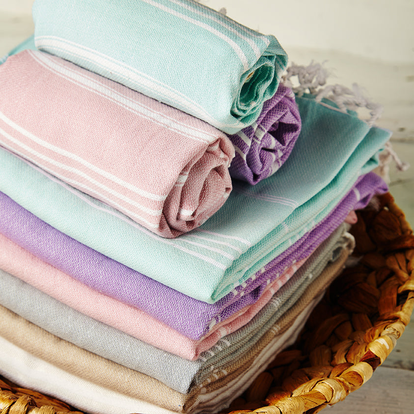 Sorbet hammam towels for everyday use