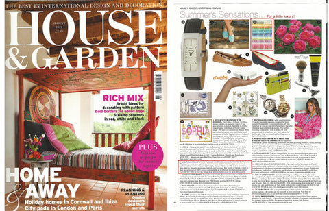 sorbet hammam towels as featured in house & garden magazine