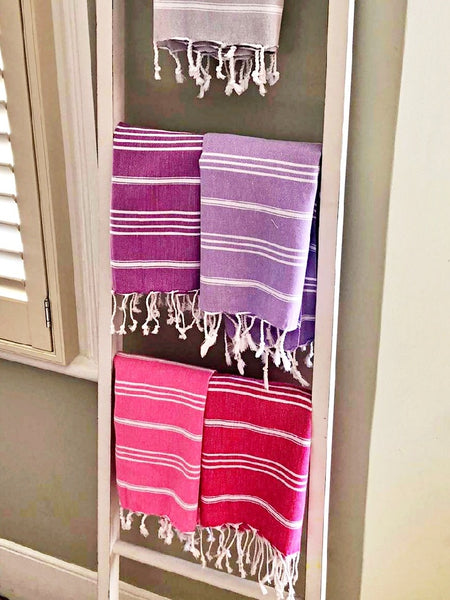 Hammam towels in the bathroom
