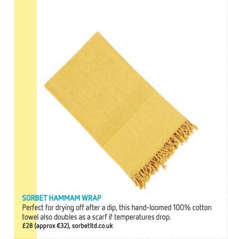 Easyjet article featuring Sorbet towels