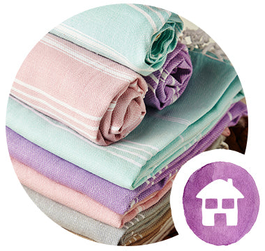 pastel hammam towels for bathroom