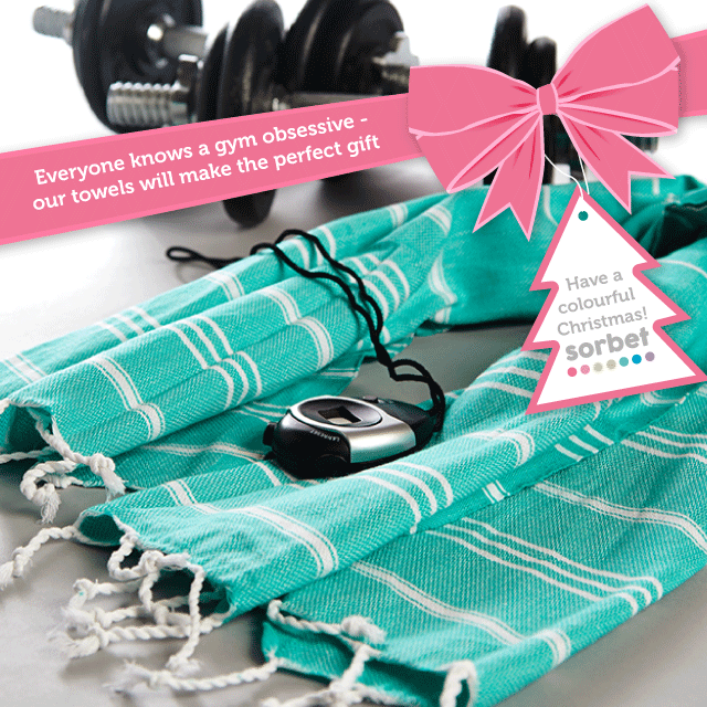 SORBET TOWELS CHRISTMAS GIFT GUIDE gym towel gym bag