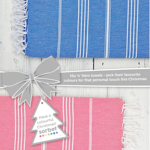 Sorbet Towels Gift Guide His n Hers Towels